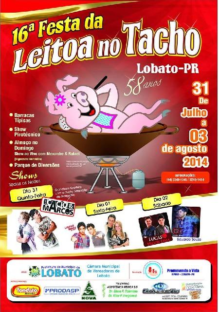 16º Festa da Leitoa no Tacho